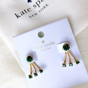 Kate Spade ♠️ NWT Emerald Green Earrings